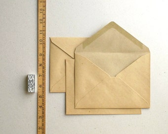 """50 A7 (5 1/4""""x7 1/4"""") Vintage Style Brown Kraft Envelopes for 5x7 cards and photos - Triangle Flaps"""