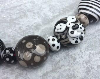 Schwarz & weiß - set Perle
