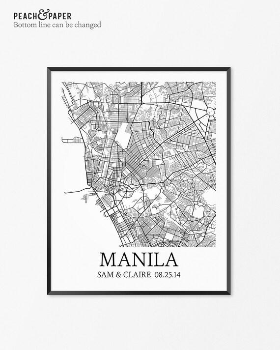 Manila map art print manila poster map of manila decor manila map art print manila poster map of manila decor manila map art manila gift manila philippines art poster publicscrutiny Images