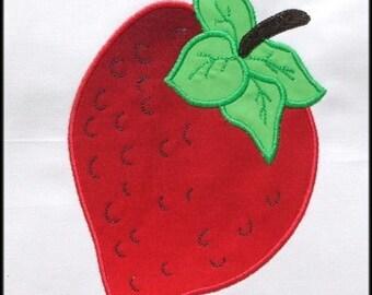 INSTANT DOWNLOAD Strawberry Applique designs