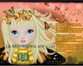 11x17 Butterfly Kaddish Art Print