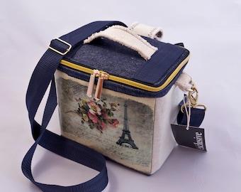 Camera Backpack Bag - Blue Denim Small camera bag for women - Crossbody camera bag backpack - Camera case storage