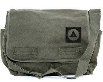Messenger Bag Bauhaus Eye (Men & Women) Crossbody Large Canvas Bag, Laptop Messenger Bag, Men's Messenger Bag