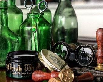 Irish Whiskey. Strong Hold. Pomade.