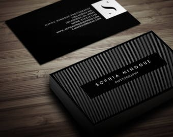 Modern Business Cards / Calling Card / Contact Card - Photography, Designer, Simplistic, Clean, Cool, Minimal