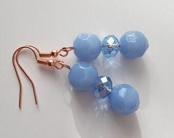 Periwinkle Blue Crystal Drops