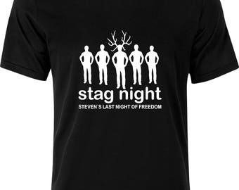 Personalised Last night of FREEDOM stag funny humour gift present party  100% cotton t shirt