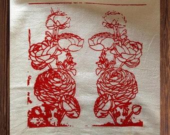 Ranunculus Tea Towel