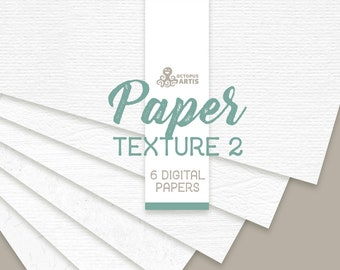 Paper Textures 2. 6 digital papers, 12x12in, resources, clipart, white, background, backdrop, watercolor paper, pattern, jpg, diy