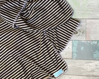 Black and White Stripe swaddle blanket-photography prop- receiving blanket