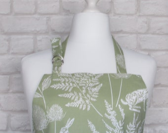 Hare Meadow Adult Apron,Adjustable Apron, Kitchen, Cooking, Home, Apron, Country, Fabric,