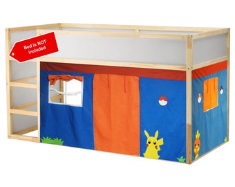 Pokemon inspired theme bed tent