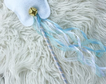 Tooth fairy wand - costume wand- silver and blue wand- toothfairy headband - tooth headband