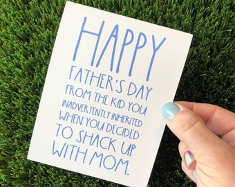Funny Father's Day Card for Stepdad Father's Day Card for Bonus Dad Card for Father's Day Funny Stepfather Card Funny Bonus Dad Card