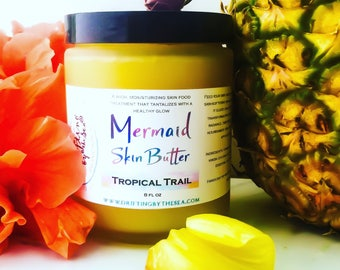 Mermaid Skin Butter ~ Ghana Shea & Cacao Body Butter ~ Dry Skin Treatment for that Mermaid Glow!