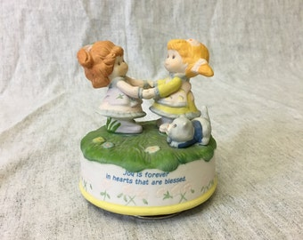 Vintage Special Blessings Musical Figurine, Joy is Forever In Hearts That Are Blessed