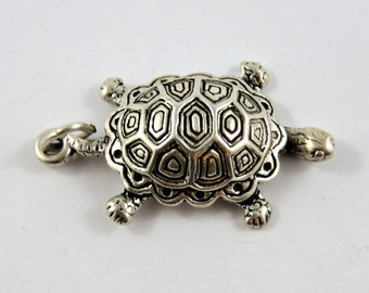 Turtle or Tortoise Sterling Silver Charm or Pendant.