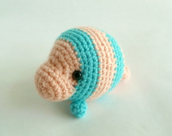 Jupiter the Baby Crochet Manatee