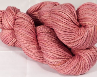 Organic Cotton ( 100%)  - worsted-  Naturally Dyed Yarn- 100 g. -Brazilwood