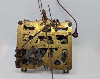 Vintage E. SCHMECKENBECHER Cuckoo Clock Gears, Movement Parts / Repair, Steampunk Design