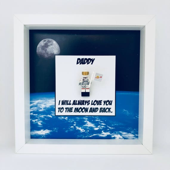 """Spaceman """"I Will Always Love You..."""" Minifigure Frame"""