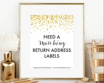 Matching Return Address Labels - With any of my designs