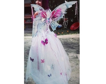 Fairy Princess Adult Costume, Butterfly Costume, Fairy Dress, Fairy Wings