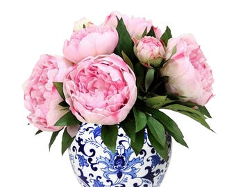 Peony 1 pink in China vase