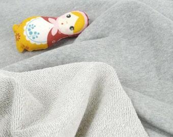 Franse Terry Knit stof Heather grijs door de werf