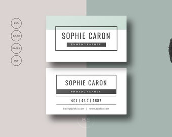 Printable business card premade business card template premade business card template printable business card design for photographer diy business card fbccfo Images