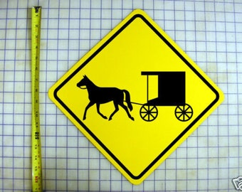 Amish Horse and Buggy Aluminum Sign