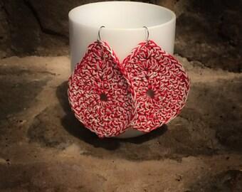 Crocheted Teardrop Earrings
