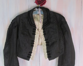 Antique 1800s Victorian Zouave Jacket- Museum Quality- US Large