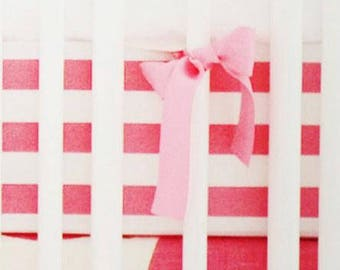 Hot Pink Spot On Fuchsia Crib Baby Bedding | Crib Sheet