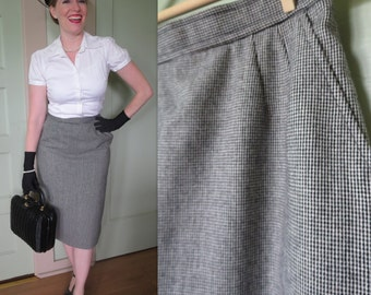 Vintage Skirt, Wool Skirt, Skirt, Vintage, Tweed, Pencil Skirt