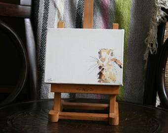 Hare Painting on Canvas by Imogen Man