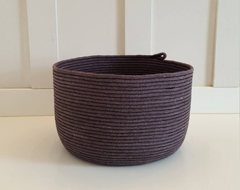 Black Dyed Rope Pot