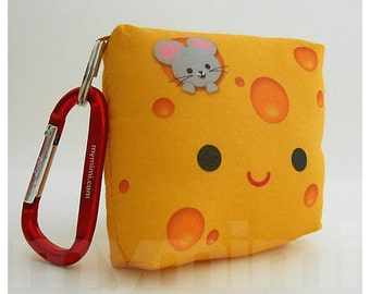 """Childrens Accessories, Cheese Pillow, Yellow Pillow, Food Pillow, Kawaii Toy, Backpack Charm, Kids Toys, Birthday Party Favor, 3,25 x 3,25"""""""