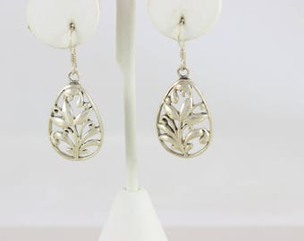 Sterling Silver Filigree Dangle Drop Earrings