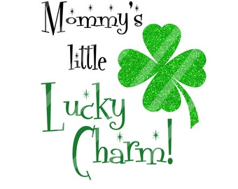 St. Patrick's Day Lucky Charm Digital Download for iron-ons, heat transfers, T-Shirts, Onesies, Bibs, Towels, Aprons, DIY YOU PRINT