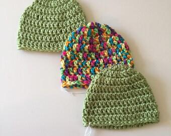 Newborn hats (set of three)