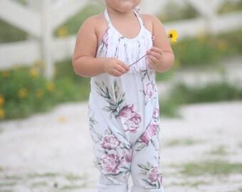Boho Knit Romper Pattern for girls sizes newborn - size 12 youth