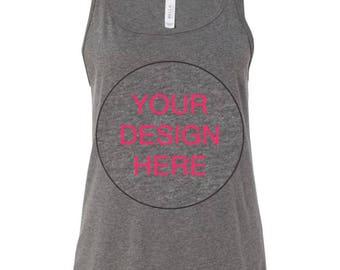 Custom Tank Top // You Design // Relaxed Fit Tank Top Custom Design
