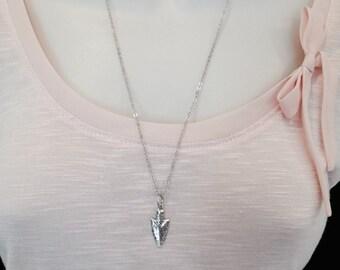 Arrow necklace, spear necklace, boho necklace, long arrow necklace, arrow head necklace, bohemian jewelry