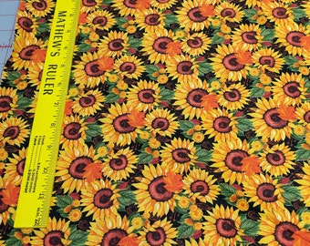 Harvest Collage-Sunflowers Cotton Fabric from Blank Quilting
