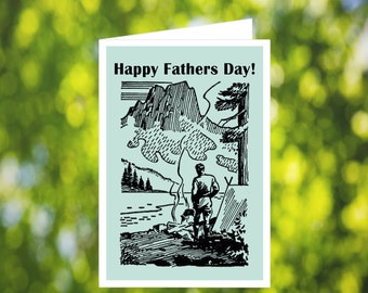 Camping Father's Day Card: Outdoorsman - Outdoorsy - Printable Father's Day Card - Gothic - Victorian - Card for Husband - Card for Him