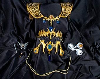 Zelda cosplay armor costume, legend of zelda, Twilight Zeld princess, replica prop, Princess of Hyrule, universe loz video game, Halloween