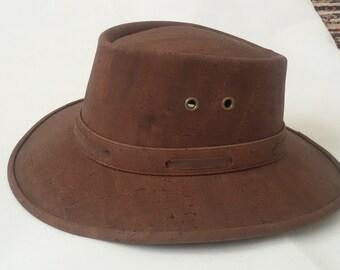 Cork Cowboy / Cowgirl Hat - Western / Australian Hat - Vegan Men / Women Sun Hat - Cork Stetson Hat - Texas Designer Hat - Summer Hat