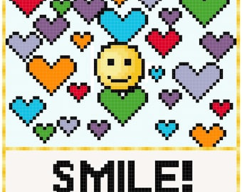 Counted Cross Stitch Pattern Smile!