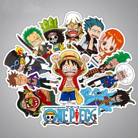 One piece stickers pack x42 vinyl decals print luffy